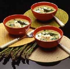 Delicious hot asparagus soup