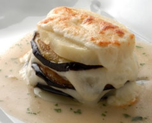 Aubergines with cheese