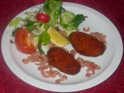 Delicious cheese croquettes with potato