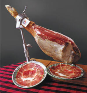 Leg of Serrano ham with Denomination of Origin of 'Teruel Ham'
