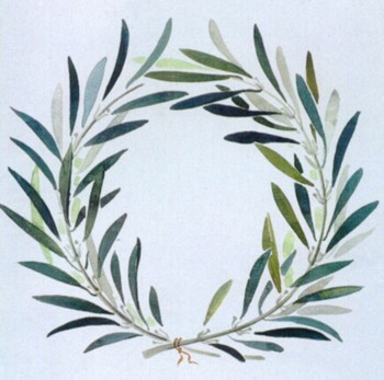 Olive branch crown. Symbol of vistory in the Olympics.