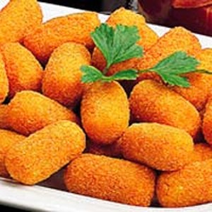 Croquettes made with pieces of Teruel ham