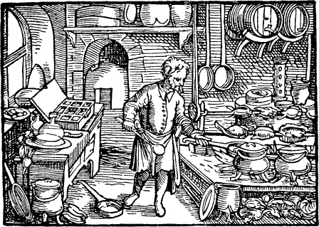 Artisan production of cheese during the 16th, 17th and 18th centuries.