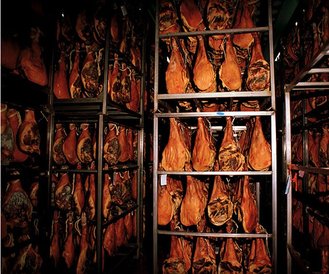 In the process of curing the ham develops its aroma and its flavour