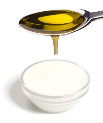 Nutritious face creams made with olive oil