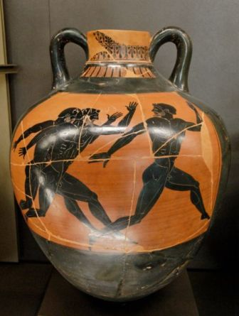 Amphora panathenaic for virgin olive oil