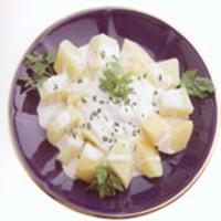 Delicious potatoes with garlic