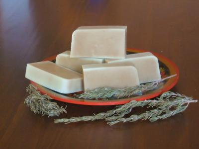 ROSEMARY SOAP HAS CLEANSING AND HEALING PROPERTIES.