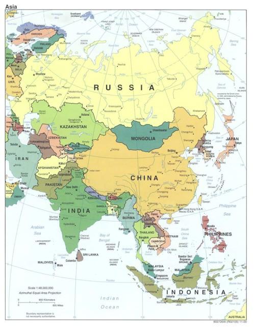 Mapa aceite Asia