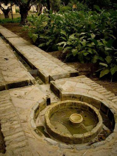 Sistema de riego de época musulmana, para distintos cultivos incluido los olivos