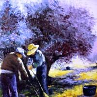 La Jota aragonesa y las faenas del campo como cojer olivas.