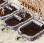 Sistema de presión por rodillos, utilizado en la antiguedad para la elaboración del aceite de oliva