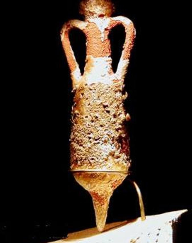 Las ánforas romanas servian de almacenaje y para el transporte del aceite de oliva