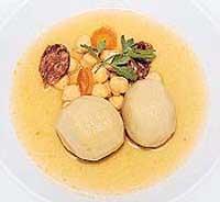 Patatas rellenas de carne y queso artesano de Teruel