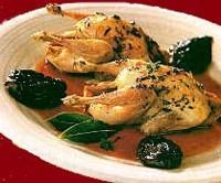 Codornices rellenas de delicioso jamón de Teruel