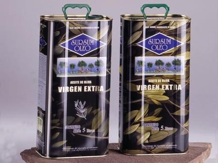 Aceite de oliva virgen extra en envase de lata