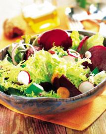 Ensalada con hortalizas y queso