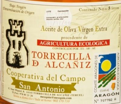 Aceite de oliva Virgen Extra de denominación de origen del Bajo Aragón