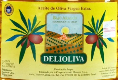 Aceite de oliva virgen extra de denominación de origen Bajo Aragón