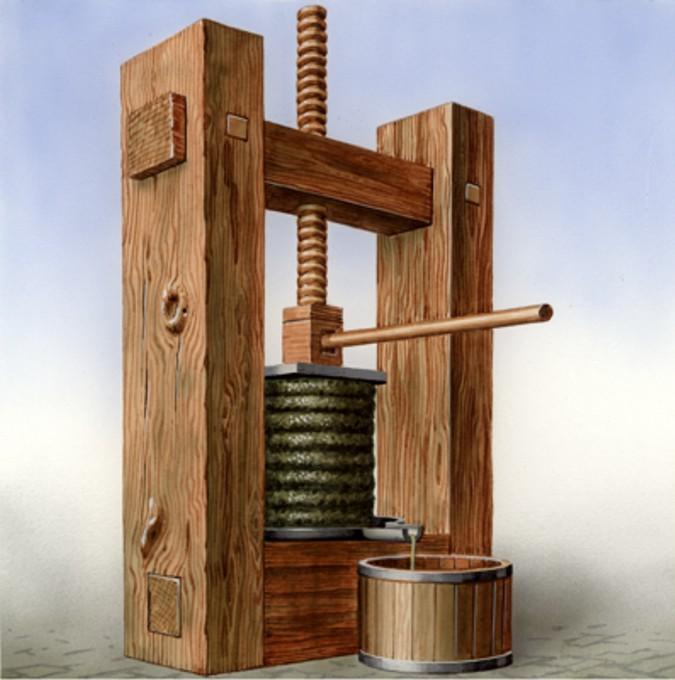 La prensa de capilla, también es llamada prensa de tornillo