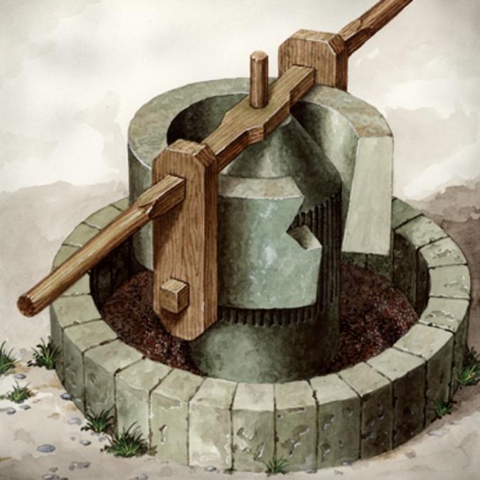 El molino de piedras concentricas, moltura la aceituna sin romper el hueso