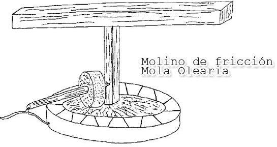 Mola olearia para elaborar aceite de oliva virgen extra