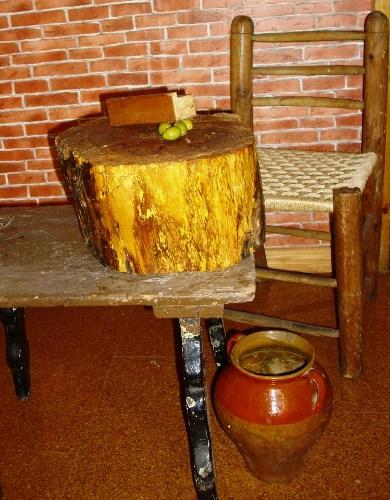 Aliño de olivas de mesa de manera tradicional